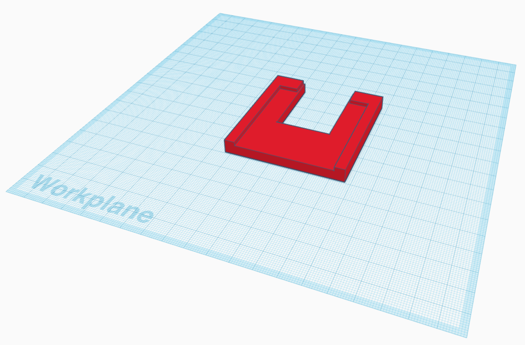 The hole punch jig in Tinkercad.