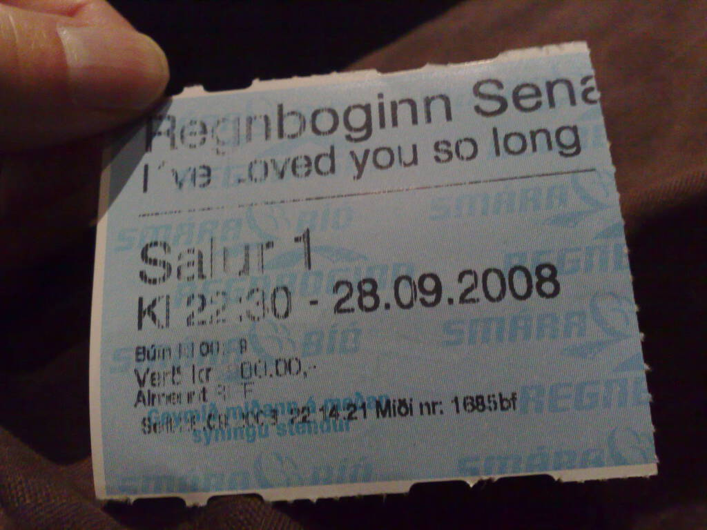 Iceland Movie Ticket