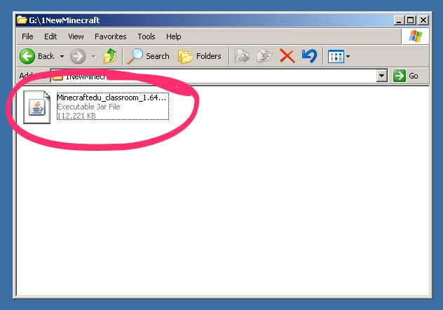 The MinecraftEdu installer on the Windows XP desktop