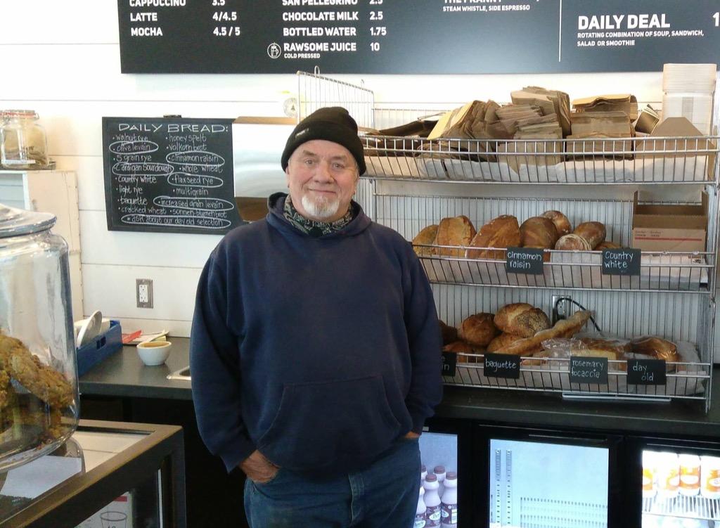 Photo of Baker John Dale at Breadworks.