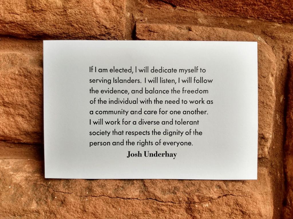 Josh Underhay's words.