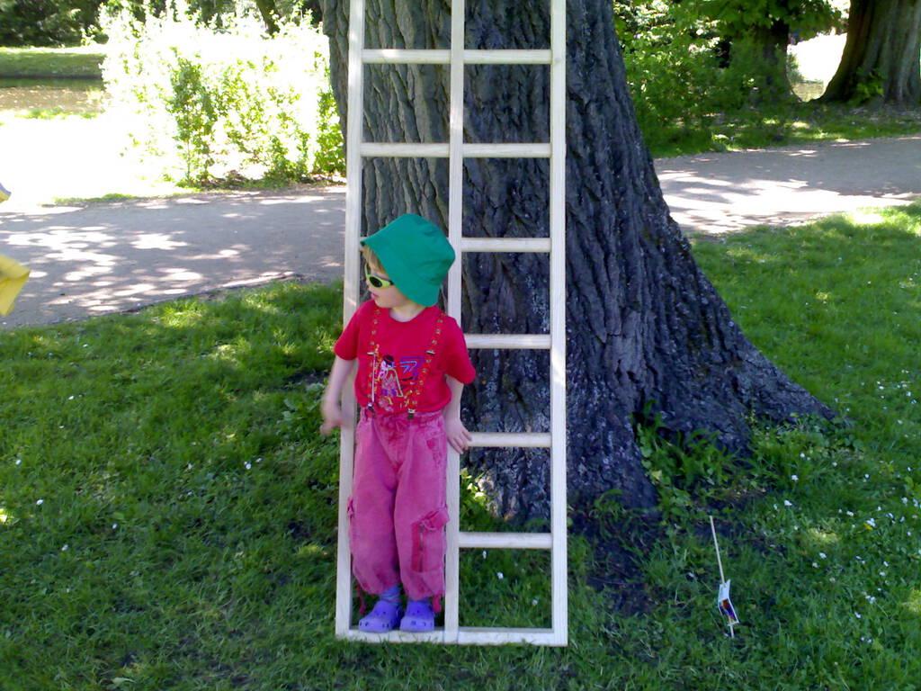 Olivia on Ladder