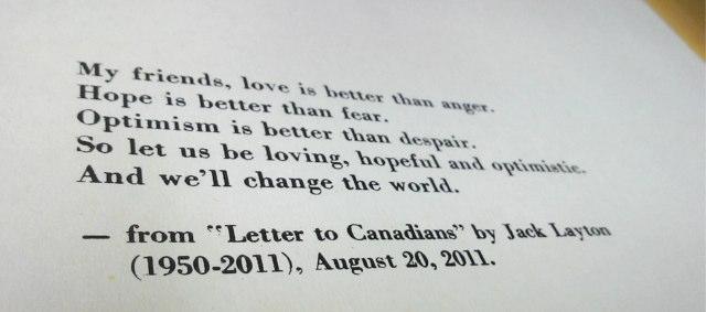 Jack Layton quote.