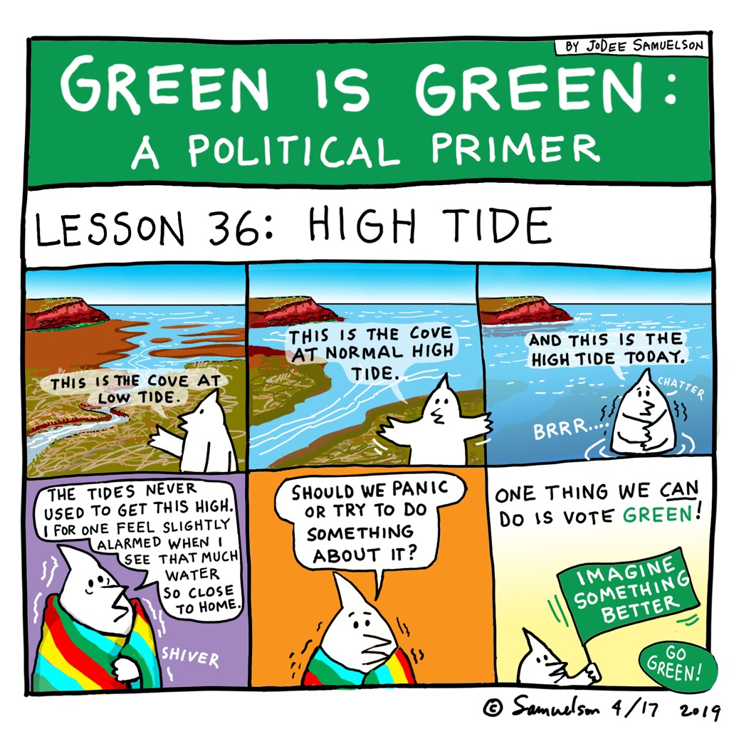 Green Lession 36 (comic by Jo Dee Samuelson)