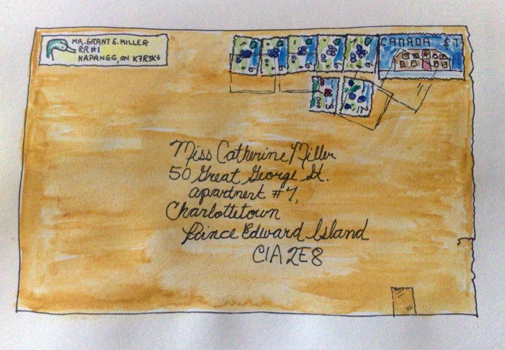 Sketch of envelope