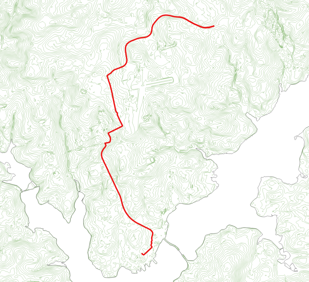 LIDAR map showing my bike route