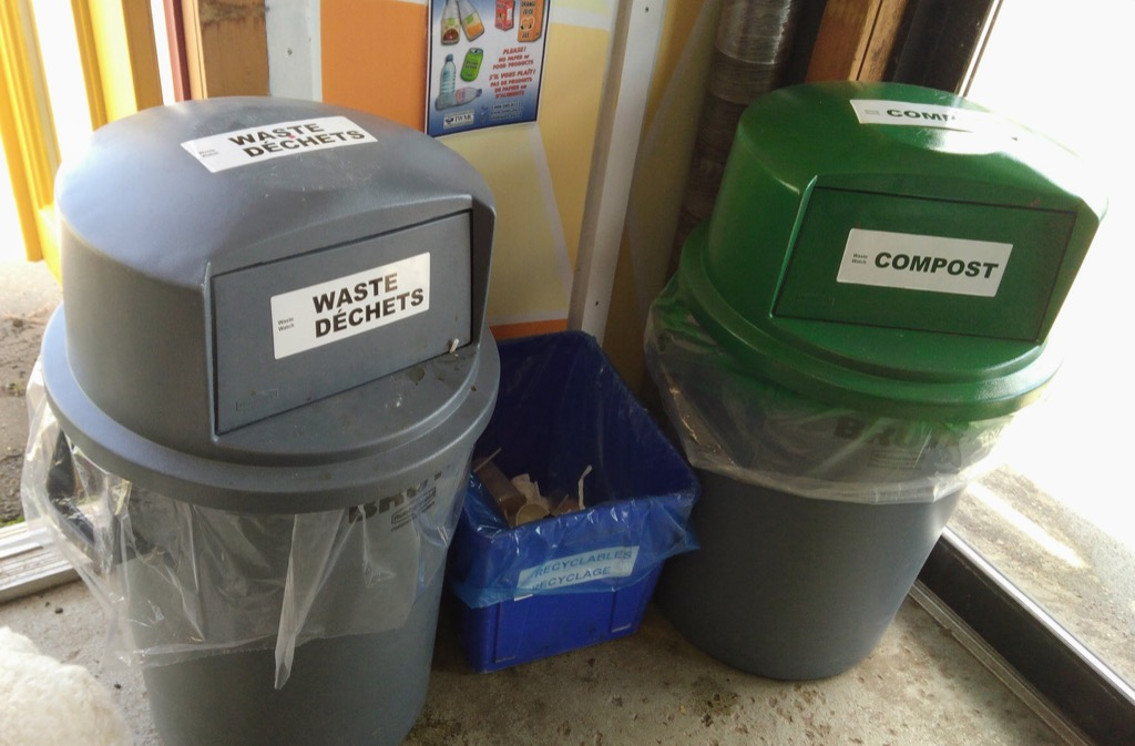 New Farmers' Market waste sorting station.