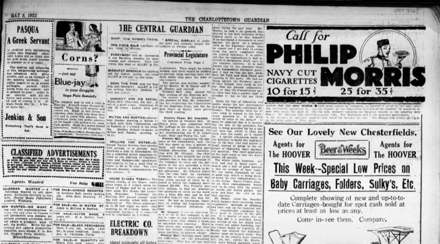 The Guardian, May 3, 1922, Page 3, detail