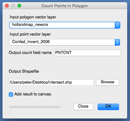Points in Polygon Count in QGIS