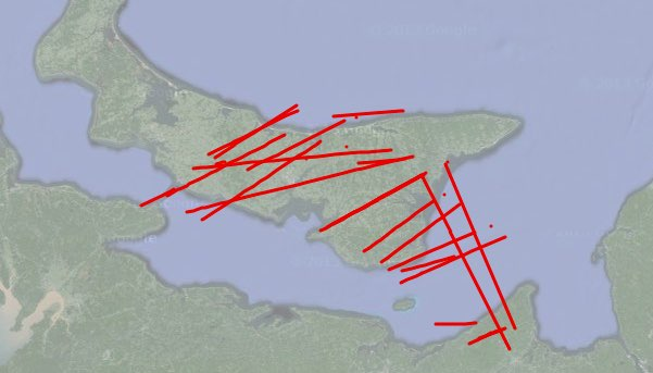 Flights over PEI