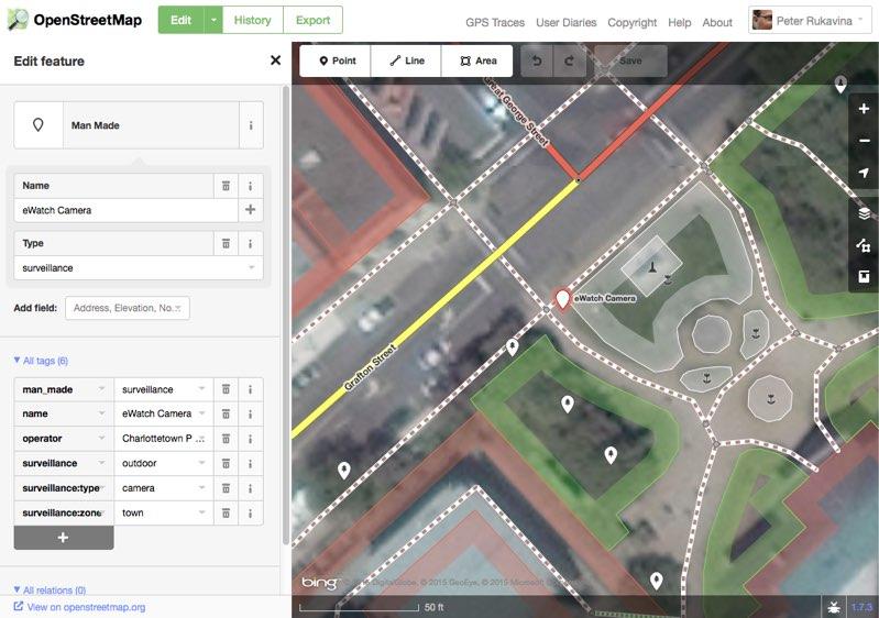OpenStreetMap + CCTV