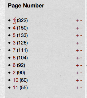 Page Number Facet