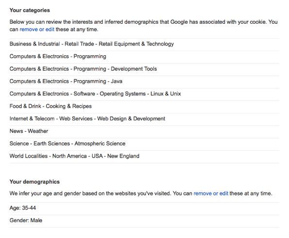 Google's profile of me.