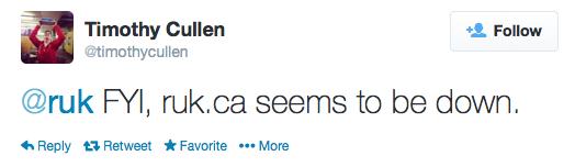 Tim Cullen Tweet