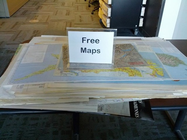 FREE MAPS table.