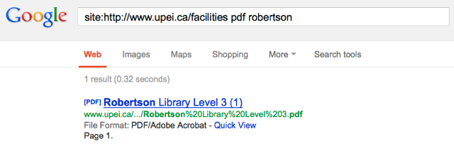 Google Search results for Robertson Library floor plans