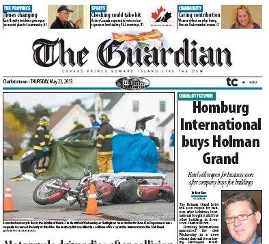 Homburg Headline in The Guardian