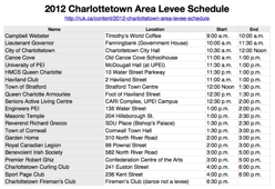 Thumbnail of Levee Schedule