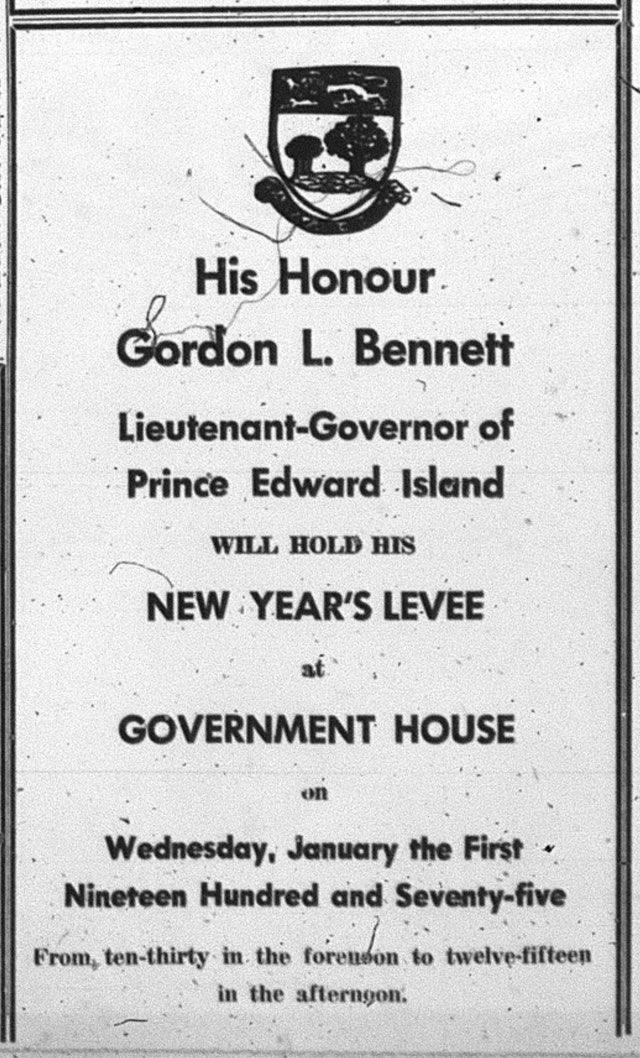 Lieutenant Governor's Levee