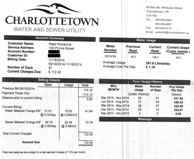 New Water Bill