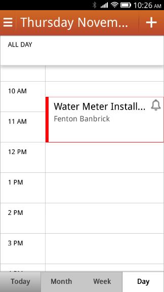My ownCloud calendar on my Firefox OS device Calendar app