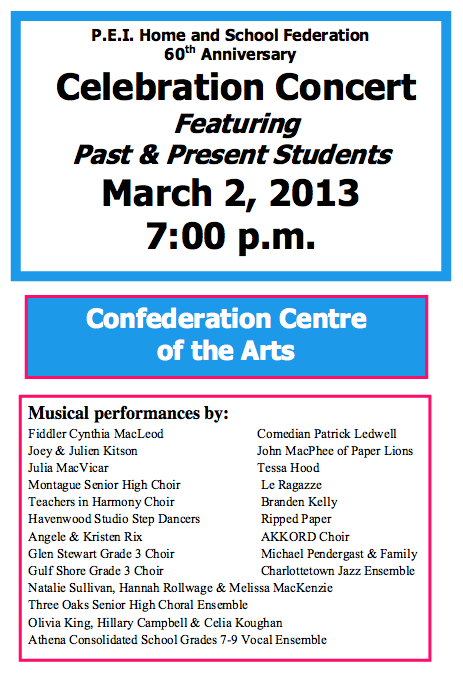 PEIHSF Concert Poster