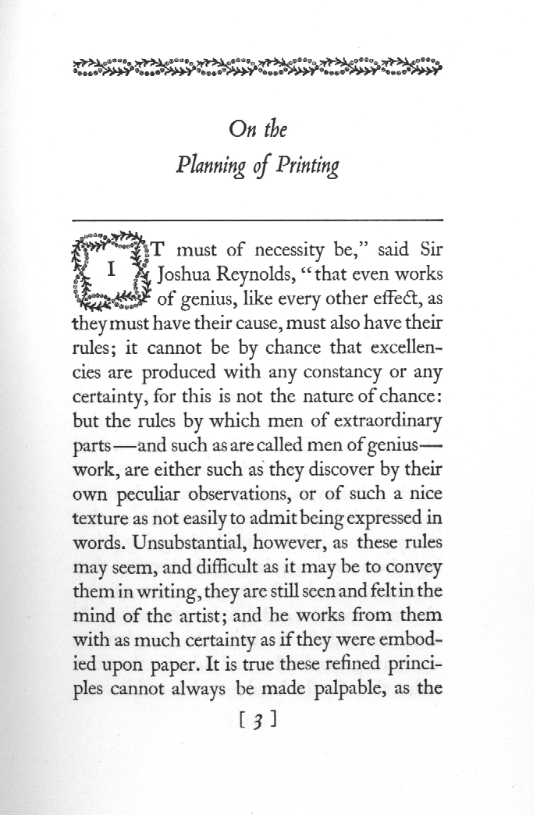 Page from In the Day's Work by D.B. Updike, 1924
