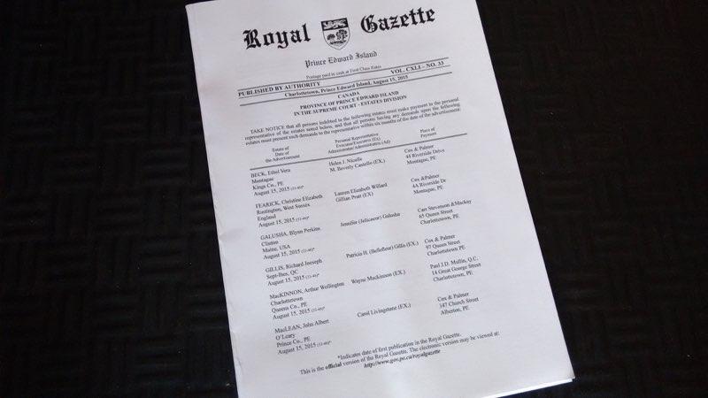 Royal Gazette