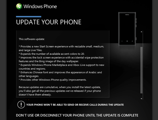 Zune Update to Windows Phone 7.8