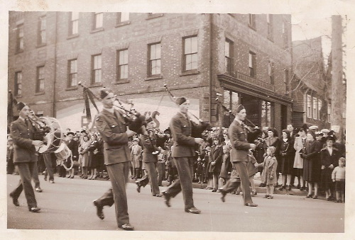 Marching People at the corner of Kent and University in Charlottetown, PEI