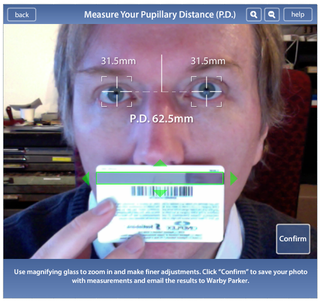 Warby Parker Pupillary Distance Calculator