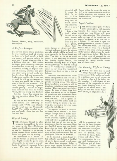 New Yorker, November 12, 1927, page 18