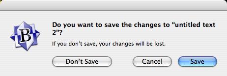 Screen Shot of OS X Dialog Box