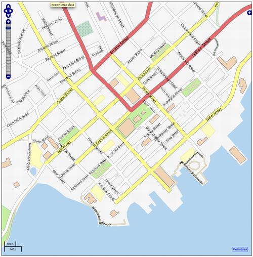 OpenStreetMap Screen Shot in Charlottetown