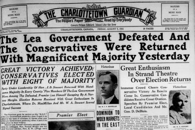 Guardian Front Page from August 7, 1931
