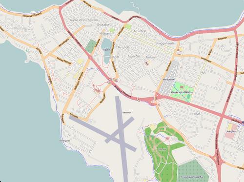 Reykjavik OpenStreetMap Screen Shot