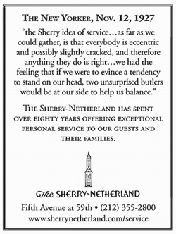 The Sherry-Netherland ad from The New Yorker