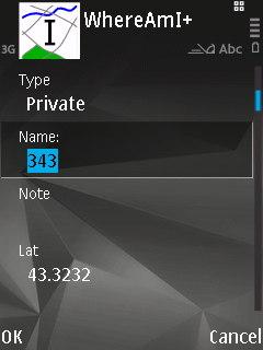 WhereAmI running on a Nokia N95