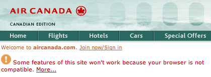 Air Canada: Go Away!