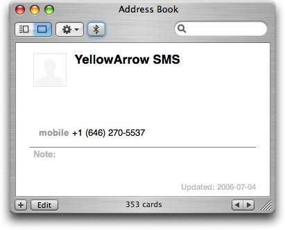 Address Book Screen Shot