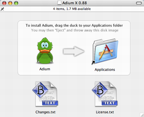 Adium Install Image