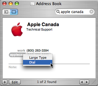 OS X Address Book