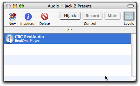 CBC stream recording with Audio Hijack, Step Three