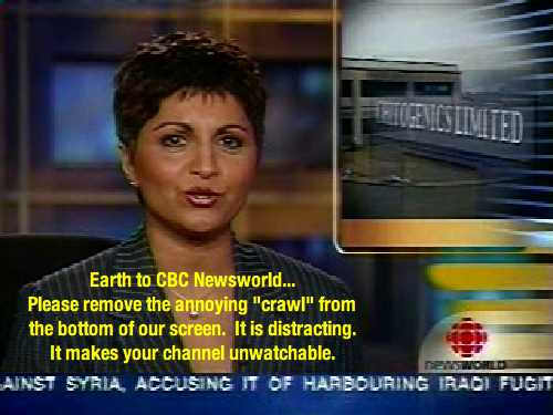 CBC Newsworld's Annoying Crawl