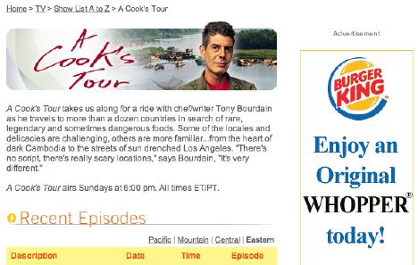 A Cook's Tour Website Shot