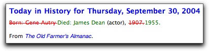 James Dean, Gene Autry