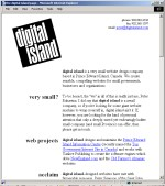 Digital Island website, December 22, 1996
