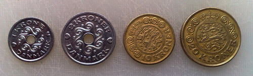 The major Danish coins