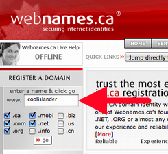 Webnames.ca Screen Shot