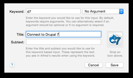 Alfred App Workflow Setup